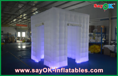 Chiny Niestandardowe białe nadmuchiwane Photo Booth Shell Enclosure Inflatable Cube Tent Portable dostawca