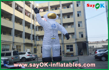 Chiny 4m Oxford Cloth Outdoor Holiday Inflatables Biały Spaceman do reklamy dostawca