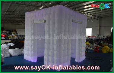 Chiny Centrum Handlowe Two Doors Wedding Inflatable Photo Booth Portable with Led dostawca