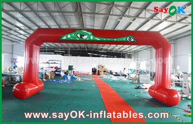 Chiny Czerwony PVC Printed Start Finish Line Arches Double Sewing Inflatable Entrance Arch dostawca