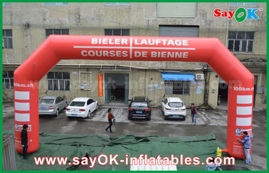 Chiny 3D Inflatable Finish Arch Event Oświetlenie LED Inflatable Entrance Arch For Promotion dostawca