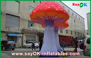 Chiny Oxford Cloth Custom Inflatable Products Giant Oświetlenie LED Inflatable Mushroom dostawca
