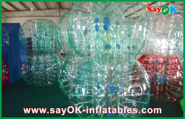 Chiny Wyczyść / Red / Blue Inflatable Soccer Bubble Ball Giant Human Bubble Ball dostawca