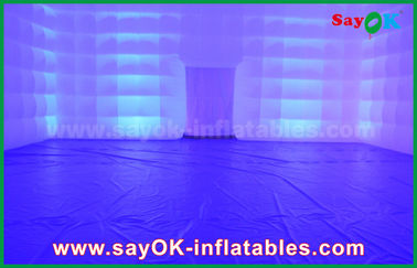 Chiny Party / Camping Transparent Inflatable Square Namiot z oświetleniem LED dostawca