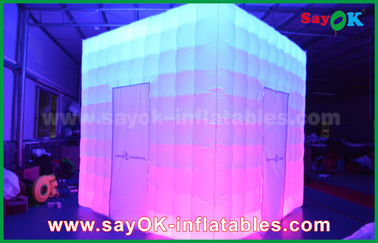 Chiny Dostosowany kształt PVC Coating Inflatable LED Photo Booth With Charming dostawca