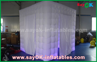 Chiny 210D Oxford Two Doors Led Inflatable Photo booth 2,5m X 2,5m X 2,5m dostawca
