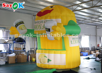 Chiny 3 * 3 * 4m Oxford Cloth Inflatable Lemonade Stand Booth do reklamy dostawca