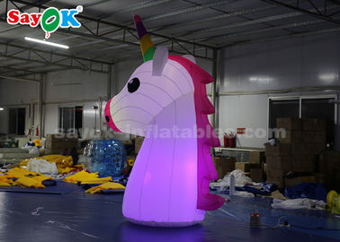 Chiny Rainbow Unicorn Inflatable Cartoon Characters 210DD Oxford Cloth Durable dostawca