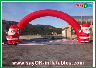 Chiny Oxford Cloth Red Christmas Nadmuchiwane Arch, nadmuchiwane Christmas Archway dostawca