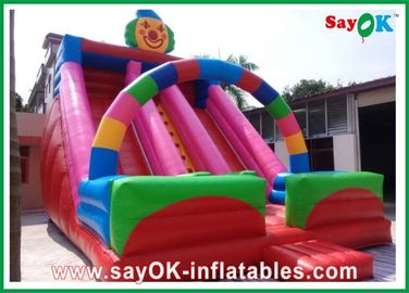 Chiny Clown Theme Inflatable Bouncer Slide Multi-color Do parku rozrywki dostawca