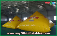 Chiny Gold 2m Custom Inflatable Products Pyramid With 0.4mm PVC Do reklamy fabryka