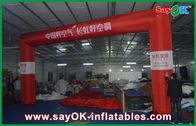 Chiny Reklama Dmuchana linia mety, 6 x 4m Red Inflatable Finish Arch fabryka