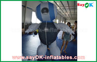Chiny Custom 2mH Oxford Cloth Robot Niestandardowe nadmuchiwane produkty Blue For Advertising fabryka