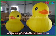 Chiny Promocja Lovely Big Yellow Inflatable Cartoon Duck With Customized Logo Print fabryka