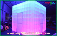 Chiny Dostosowany kształt PVC Coating Inflatable LED Photo Booth With Charming fabryka