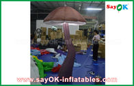 Chiny Vivid Brown Inflatable Mushroom with LED light Inside for Show Decoration fabryka