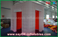 Chiny Oświetlenie LED Nadmuchiwane Photo Booth With 2 Doors / Inflatable Tent fabryka