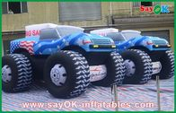 Chiny Blue 5M Inflatable Jeep Car 210D Oxford Cloth For Adversting fabryka