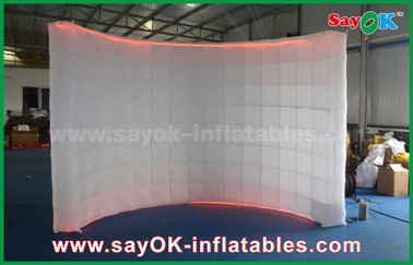 Chiny 3x1,5x3.3m Wedding Inflatable Lighting Photo Booth Shell Cabinet for Party fabryka