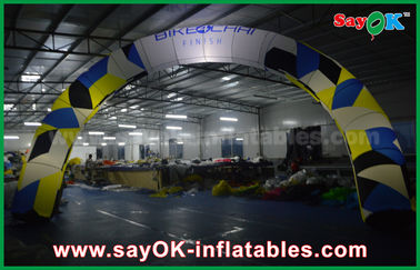 Chiny Oxford Cloth Reklama Inflatable Finish Line Arch / Archway White With Led Light fabryka