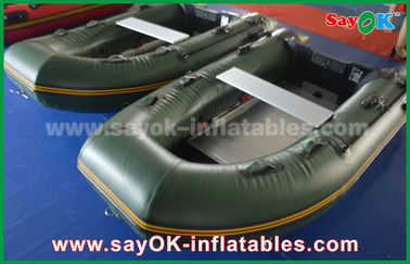 Zielona 0.9 / 1.2 mm plandekowa PCV Inflatabe Boats with Aluminium Floor / Paddles