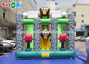 6 * 4m Animal Theme Party Inflatable Bouncer Slide for Advertising
