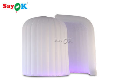 Chiny 3 * 2 * 2,3 m LED Igloo Inflatable Portable Photo Booth With One Door Curtain fabryka