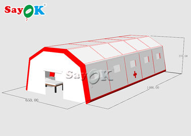 Chiny Fast Built Inflatable Mobile Emergency Hospital Tent To Set Patients fabryka