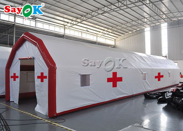 Chiny Manufacturers Custom Large Waterproof PVC Inflatable Airtight Medical Tent  Antibacterial Inflatable Tunnel Tent fabryka