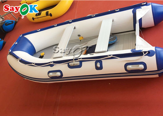Heat Sealed Blue PVC Nadmuchiwane łodzie Water Fun Blow Up Boat 2 Person